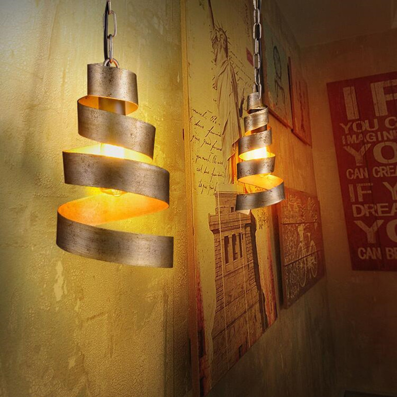 American Rural Creative Personality Bar Restaurant Pendant Lights Simple Iron Couture Cafe Omelet Shape Decor Lamps Freeshipping simple post modernity iron restaurant bar cafe originality personality northern europe annular hall chandelier freeshipping