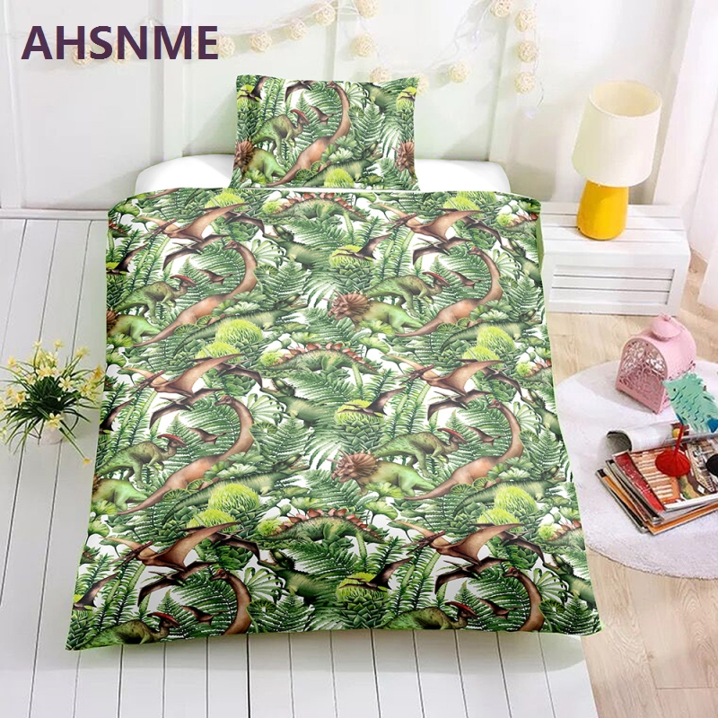 AHSNME Special Promotion! ! ! Dinosaurs in the jungle Bedding Set Quilt Cover Home Textiles in the USA and AU nad EU sizesAHSNME Special Promotion! ! ! Dinosaurs in the jungle Bedding Set Quilt Cover Home Textiles in the USA and AU nad EU sizes