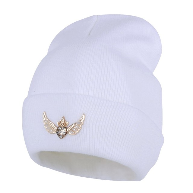 4f63face US $4.9 21% OFF|new fashion women brand winter hats custom design letter  Star rhinestone beanies wholesale girl best cute thermal gorro Skullies-in  ...