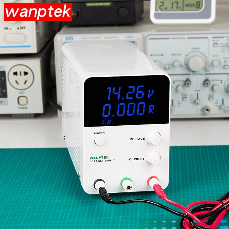 Wanptek Réglable Laboratoire alimentation Numérique régulateur de tension Banc DC Puissance 30 V/60 V 5A/10A Sortie