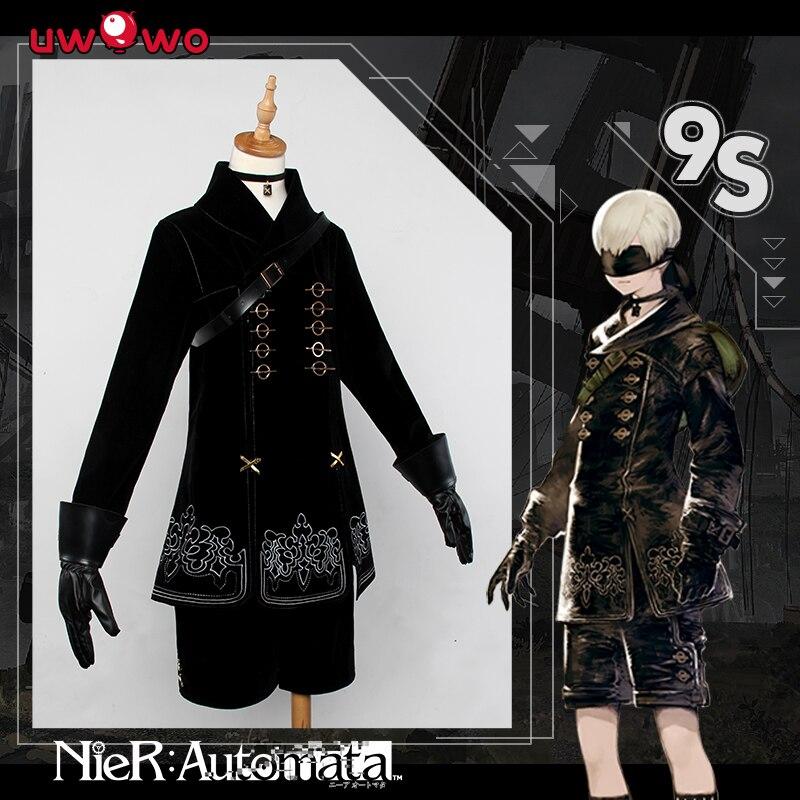 PRE SALE SEPT 2 NieR Automata 9S YoRHa No 9 Type S Black Uniform Cosplay Costume