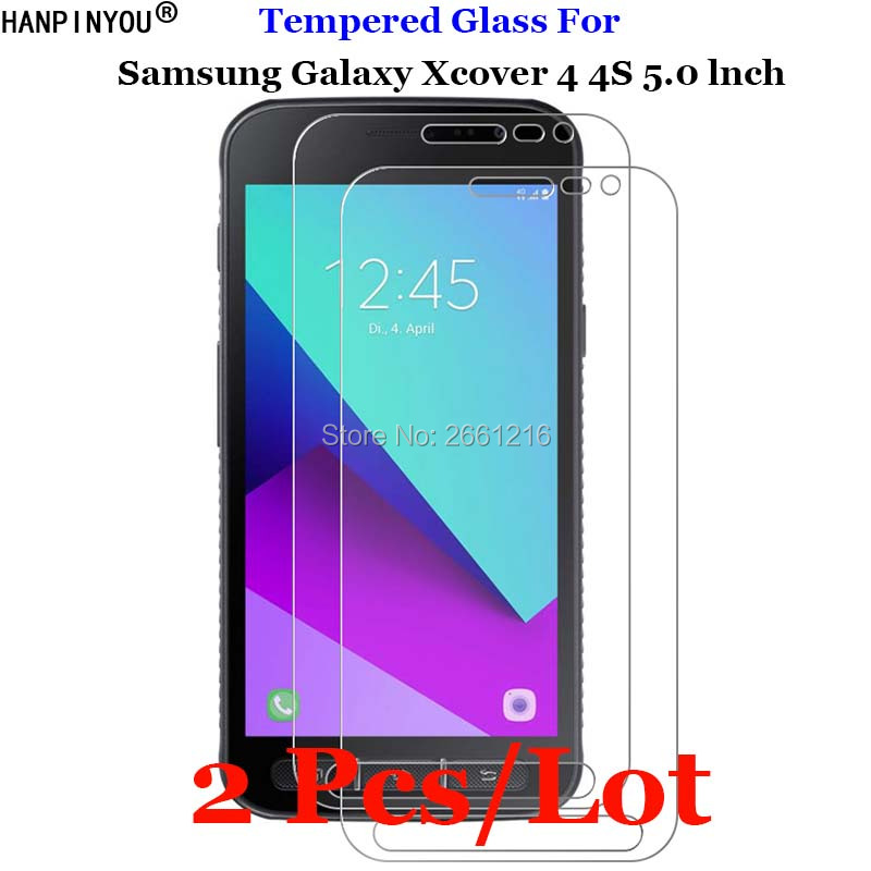 2 Pcs/Lot For Samsung Xcover4s Xcover4 Tempered Glass 9H 2.5D Premium Screen Protector Film For Samsung Galaxy Xcover 4 4S 5.0
