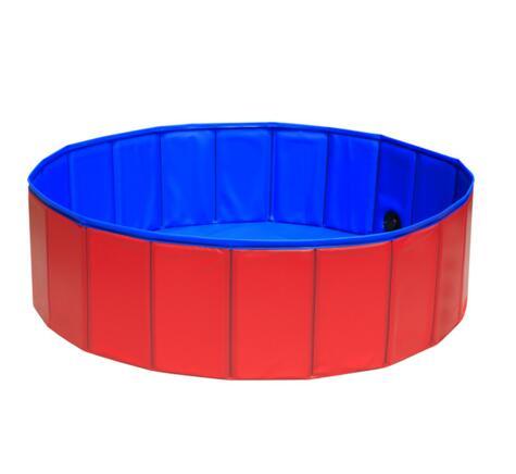 PVC Foldable Pet Dog Cat Baby Swimming Pool PVC Washing Pond Dog Tub Bed Large Small Dog Swimming House Bed Summer Pool