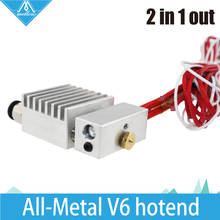 3D printer Cyclops 2 in-1Out Extruder single head color mix extruder all-metal/Teflon hot end of Extrusion 0.4mm nozzle