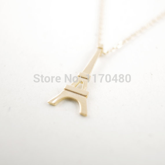 yiustar 1 Piece-N063 Fashion Gold Paris Eiffel Tower Necklace Pendant for Girlfriend Wedding Gift for Women New Popular Jewelry