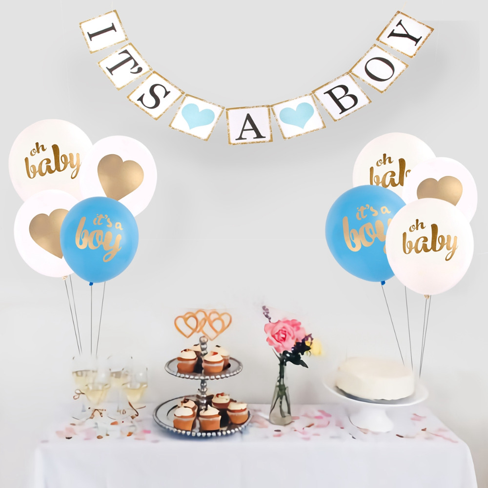 QIFU It 39 s a Girl Balloons Birthday Ballons Boy Baby Shower Its a Boy Balloons Confetti Baloons Happy Birthday Decorations Kids in Ballons amp Accessories from Home amp Garden