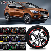 8M Car Wheel Hub Rim Edge Protector Ring Tire Strip Guard Rubber Decals For Ford KUGA