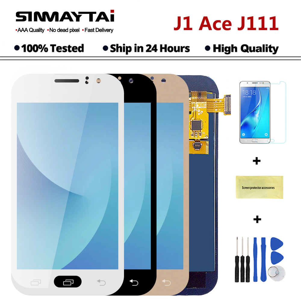 100% Tested J111 LCD For Samsung Galaxy J1 Ace J111F J111M J111FN LCD  Screen Display Touch Digitizer Sensor Assembly