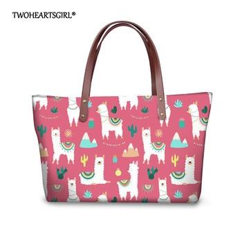 Twoheartsgirl Alpaca Fashion Luxury Women Handbag Neoprene Shoulder Bags Lady Large Capacity Crossbody Hand Bag Sac A Main
