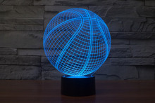 цена на Basketball Team Usb 3d led night light 7 Color Changing nightlight Touch Sensor Atmosphere table lamp bedside Illusion projector