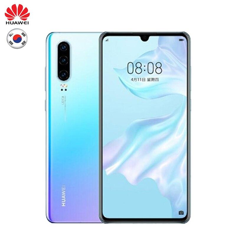 Huawei P30 Version globale en option téléphone Mobile 6.1 pouces 8 GB RAM 128 GB ROM Support NM carte mémoire OTG double carte SIM Smartphone