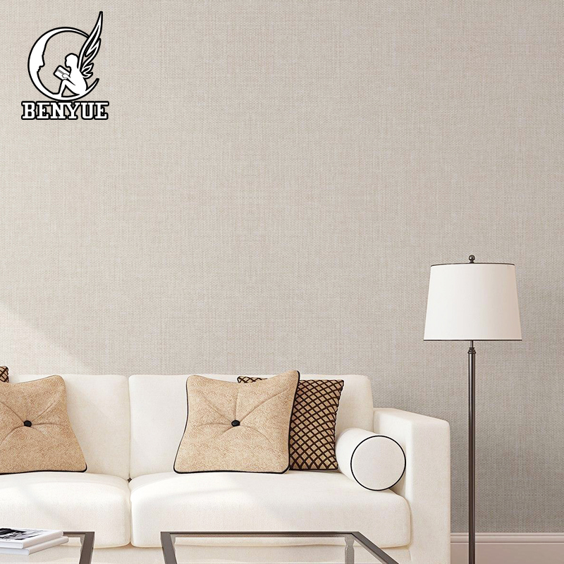 Modern Solid Color Linen Wallpaper The High Quality Living Room Seamless linen series Wall cloth for