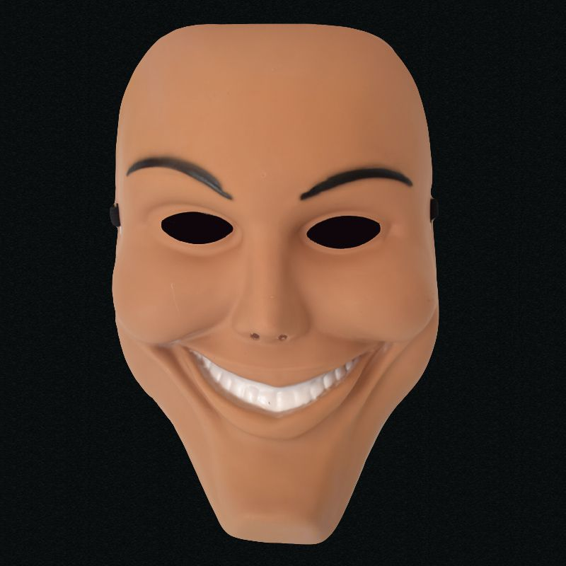 2017 hot sale the purge smiling face mask halloween horror film theme mask dance dress up props - Masque halloween film ...