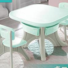 Baby's desk. Children furniture suits. Drawing table