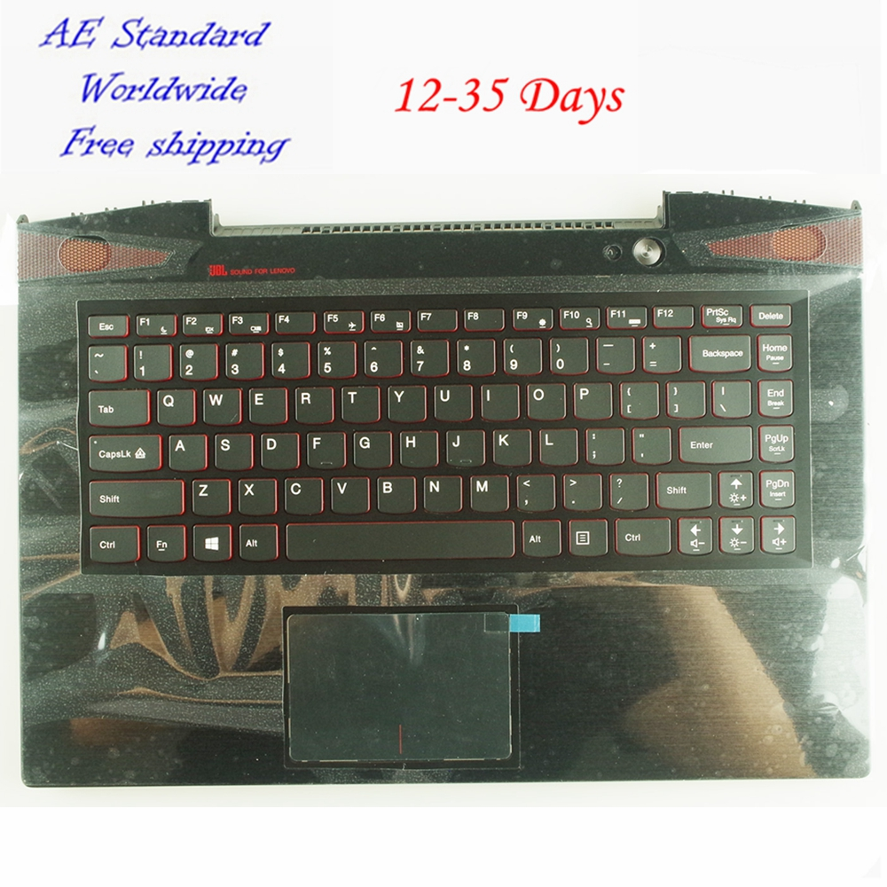 US Laptop Keyboard For Lenovo Y40-70 Y40-80 Y40-70AT Y40 New English With C shell with touchpad цены