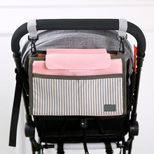 Baby Stroller Bag  Trolley Hanging Bag Pouch Bag Trolley Handrail Bag Large Capacity Multi-purpose Trolley Accessories Handrail