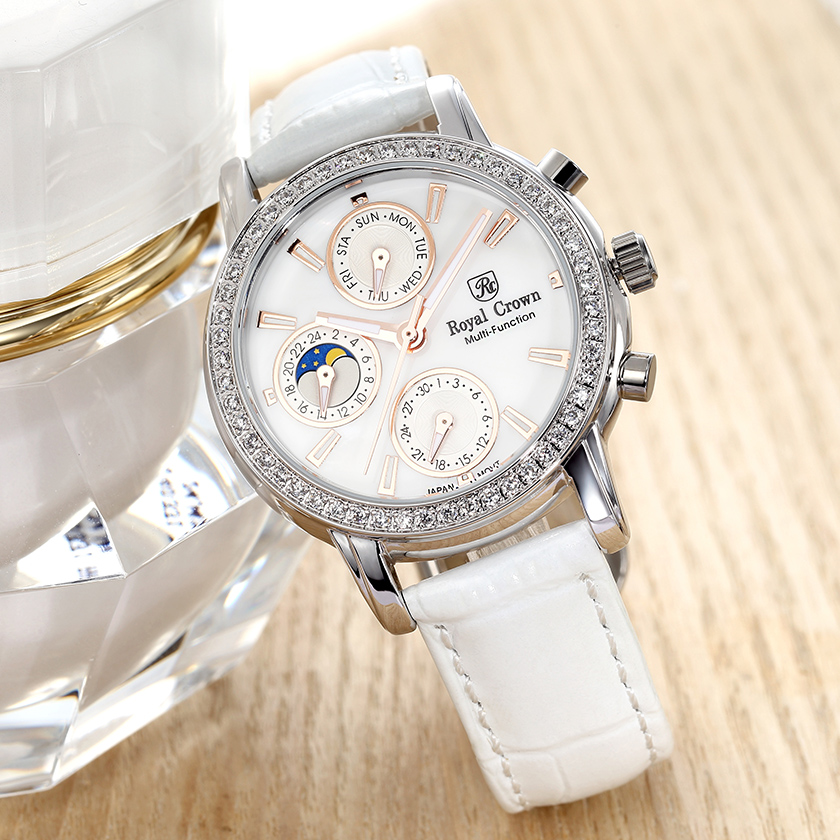 Real Functions Royal Crown Luxury Jewelry Lady Women's Watch
