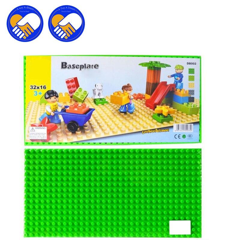 (A Toy A Dream)1pcs/lot big Blocks Base Plate 56*28 Dots 44.8*22.5cm Baseplate Compatible Wange Large particles Blocks new big size 40 40cm blocks diy baseplate 50 50 dots diy small bricks building blocks base plate green grey blue