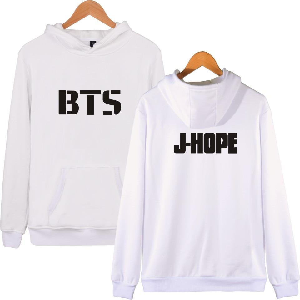 BTS kpop fashion Print hoodies women BTS hoodie Korea winter hooded sweatshirts men pullovers cotton streetwear Harajuku clothes