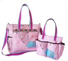 One shoulder portable multifunctional mummy bag Fashion high-capacity mother-to-child bags
