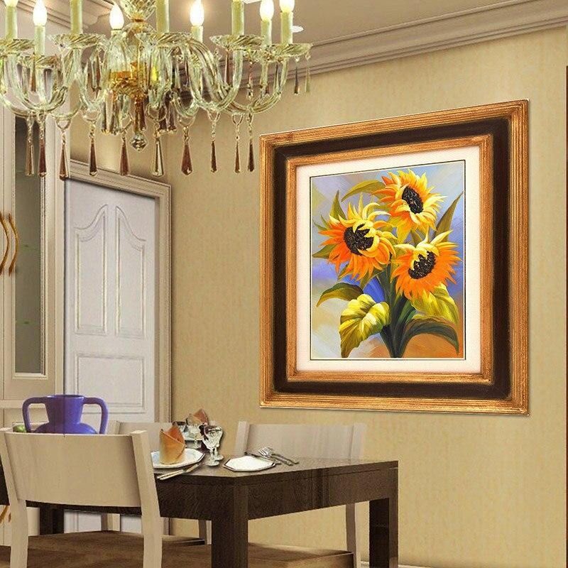 Hermoso girasol 5d Diy kits de pintura de diamante Bordado redondo - Artes, artesanía y costura - foto 4