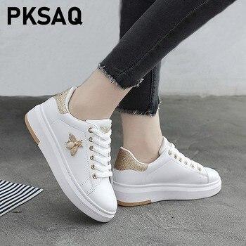 Γυναικεία Δερμάτινη Πλατφόρμα casual sneaker