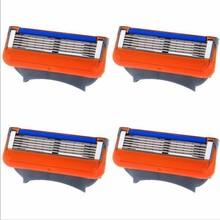 2016 Free Shipping 4pcs/lot Blades Shaving Razor Blades for Men Fusion Power Shaver Blades GFLV