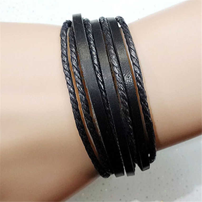 Stylish Bar HOT Fashion 1XLeather Braided Rope Bracelet for Men and Women Fashion Man Jewelry,Luxury and Casual Bracelet