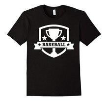 Cool Graphic T Shirts Novelty Short O-Neck Mens Baseball Trophy Tees