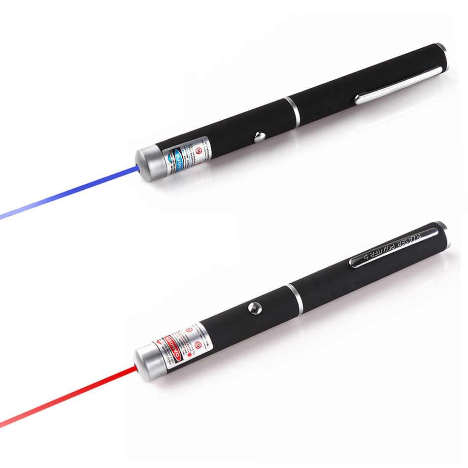 Мощная красная/фиолетовая 2 цвета лазерная указка ручка фиолетовый обучающий дальний луч света высокой мощности лазерный прицел для охоты устройство