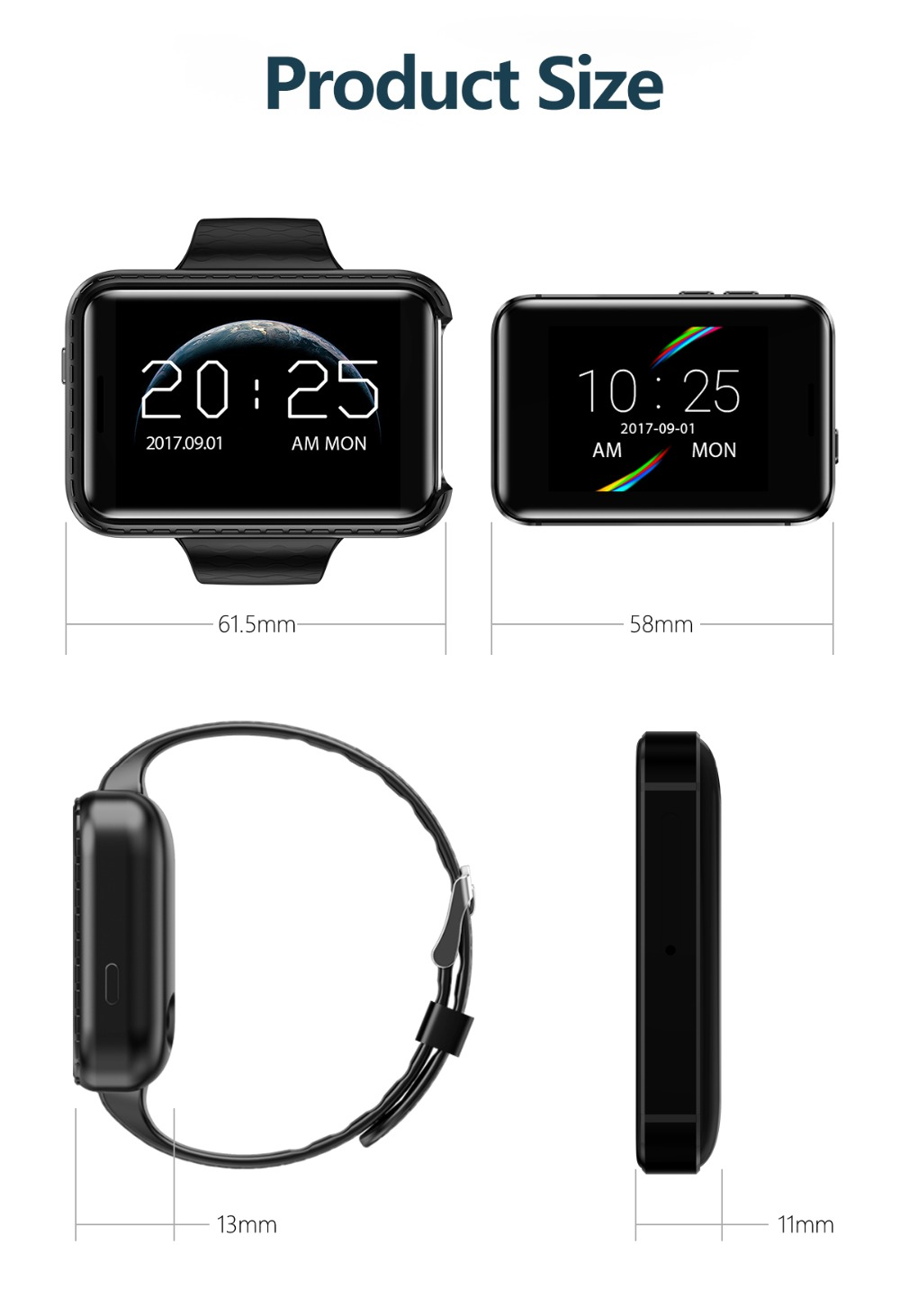 LEMADO Smart Watch I5S Watch Phone Support SIM Card Driving Recorder Pedometer Bluetooth Smartwatch Men Wristwatch PK LEM4 DM98_17