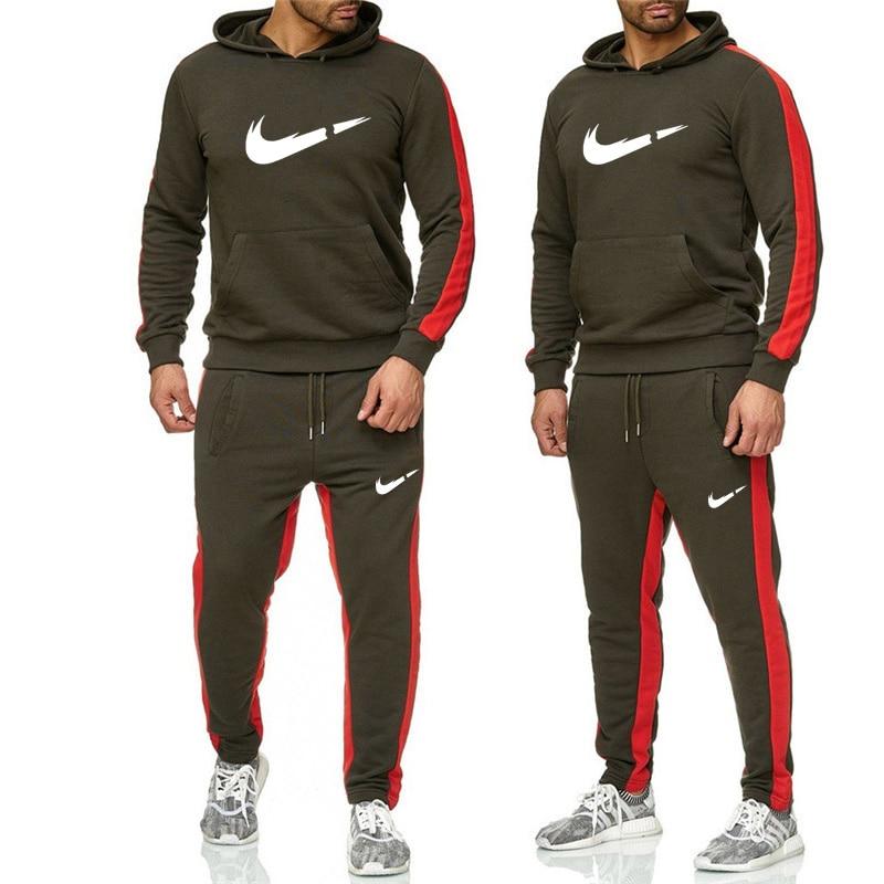 Brilliant 2019 Tide Brand Sets Men Hoodies+pants Sets Hot Sale Cotton Comfortable Brand Tracksuit Fashion Sportswear Men Casual Set Pants Pleasant In After-Taste