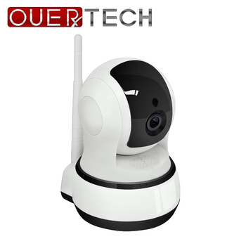 OUERTECH  Two way audio Night vision 720P Wireless Rotating Smart IP Camera support PTZ control remote access 32g baby monitor