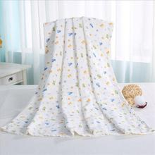 70*140 6 layers multi-use 100% cotton gauze Baby Blanket Swaddle Cartoon Printed Cotton Toddler for NewBorn Receiving Blankets