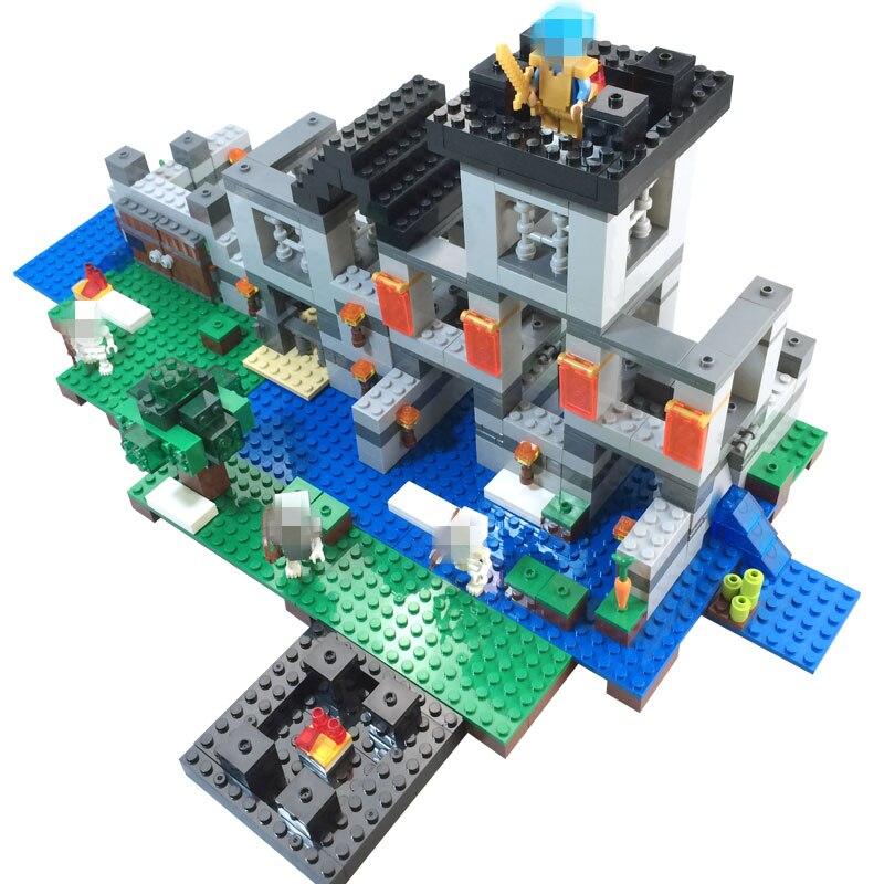 Compatible Modèle Mon Mondes Minecraft Kits De Lego Vente Avec 29IWHED