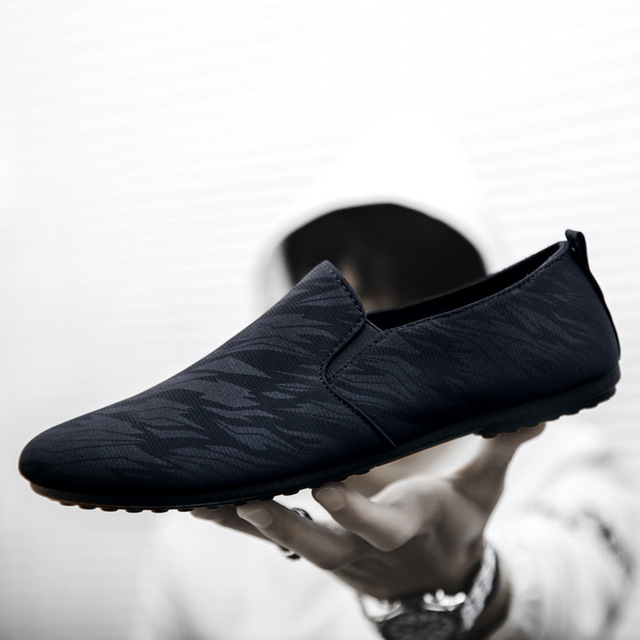 37fc7e90e 2019 mens casual loafers shoes breathable light fabric fashion spring  autumn leopard black gray blue flat
