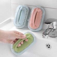 BEEMSK 1pcs with handle bath brush tile brush kitchen decontamination brush magic pot sponge cleaning brush