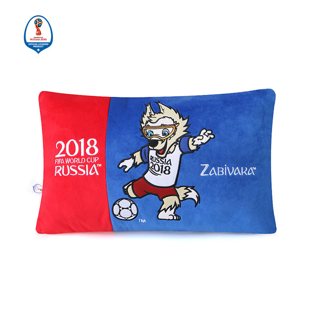 FIFA World Cup 2018 Mascot Pattern Soft Embroidery Pillowcase