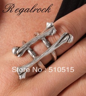 Regalrock Double Bone Knuckle Ring