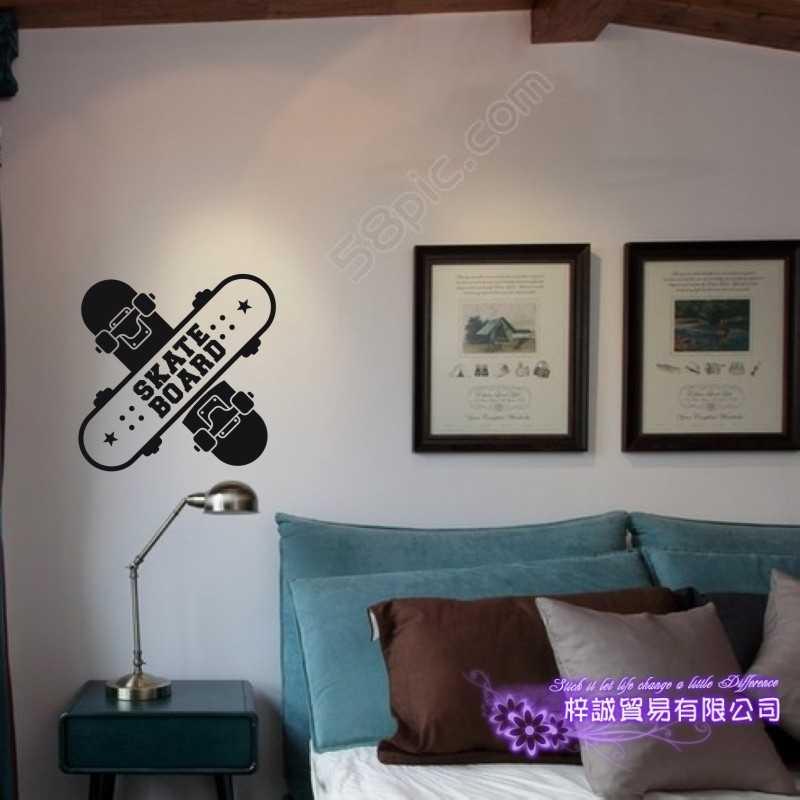 Наклейка на роликовые катания на коньках СПГ Спортивная наклейка детская комната плакаты виниловые Pegatina декор настенные наклейки с росписью наклейка