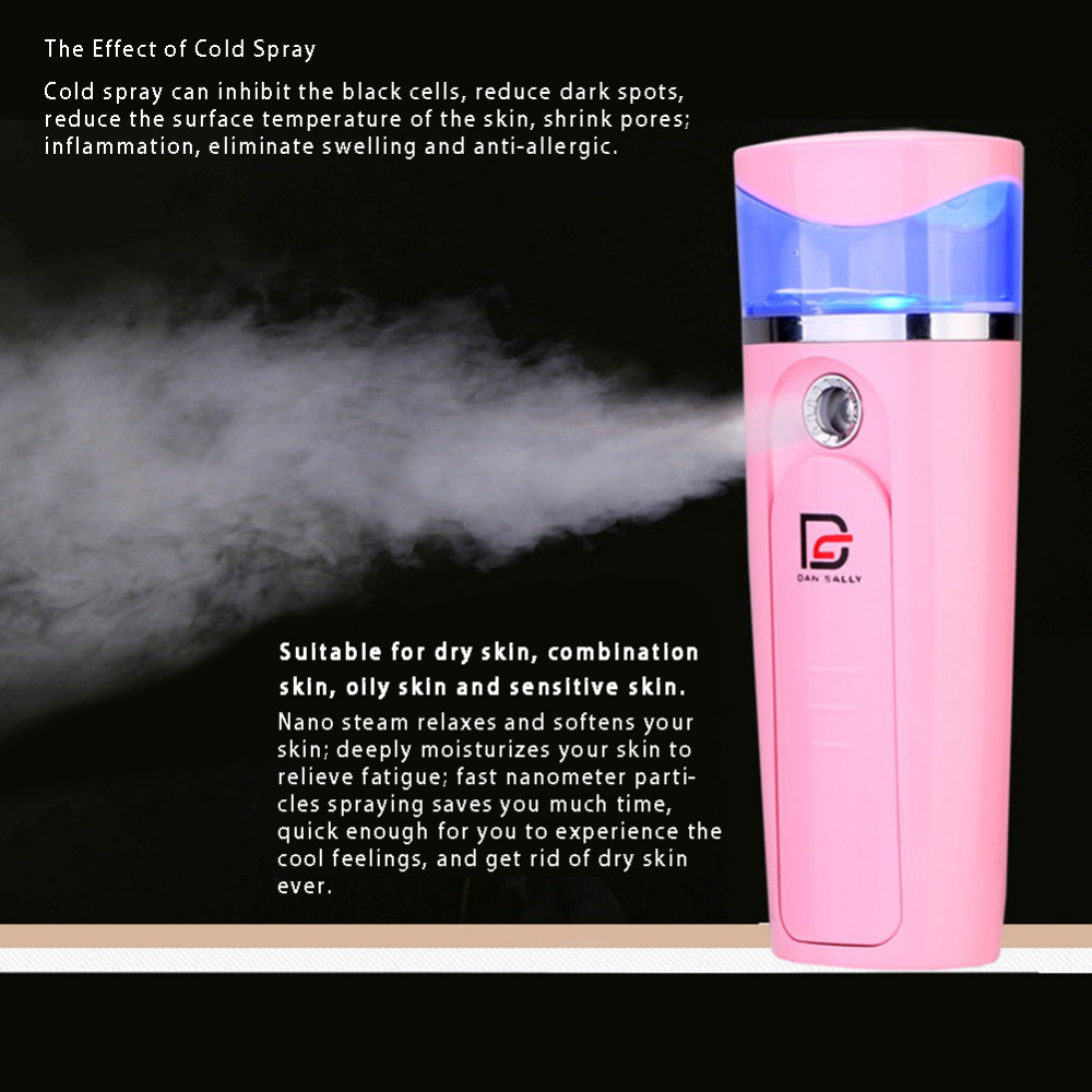 Portable Handy Nano Mist Sprayer Facial Body Nebulizer Steamer Face Skin Care USB Moisturizing Hydrating Nano Ion Cold Hot Spray nano ionic facial mist sprayer hot mist moisturizing cleaning whitening skin humidifier thermal spa face steamer face spa 220v