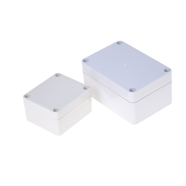 1Pc Electronic Project Instrument Case Waterproof Plastic Enclosure Box Outdoor Junction Box Housing DIY Waterproof Junction Box