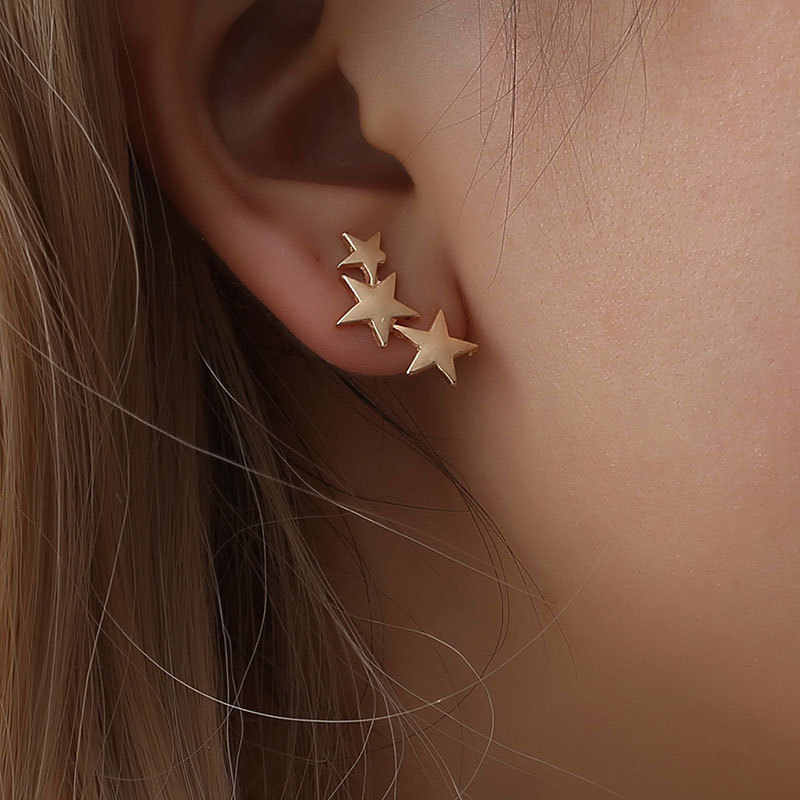 1 Pair Jewelry Earrings Pentagram Earless Ear Clips Without Puncture Earring Female 2019 for women