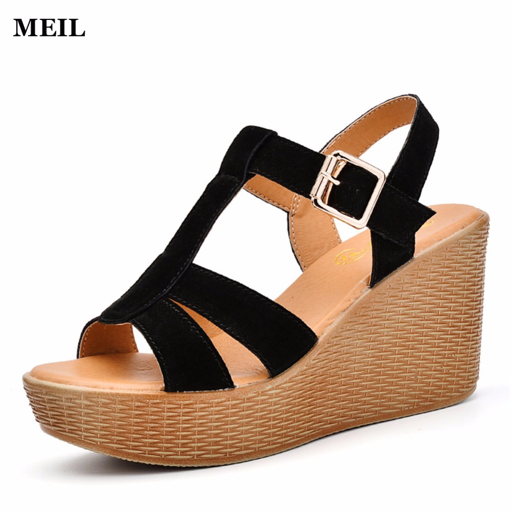 2017 Spring New Fashion Suede Woman Flats Moccasins Comfortable Woman Shoes Cut-outs Leisure Platform Woman Casual Shoes 2017 new fashion spring