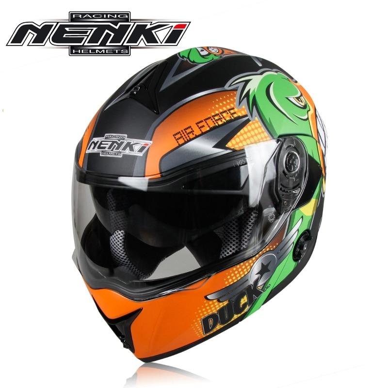 2017 Professional Winter Double Lens Motorcycle Full Face Helmet Flip Up Casco Racing Capacete Nenki 835