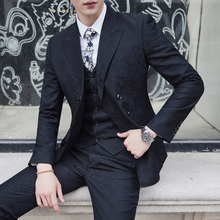 2018 Bussines Breasted Suit Men's Slim Fit Wedding Dress Suit