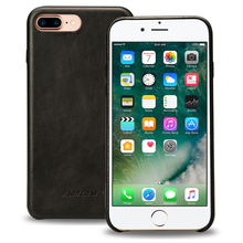 Jisoncase Genuine Leather Case for iPhone 7 Plus Luxury Cover Original Leather Phone Case Ultra Sim for iPhone 7 Plus 5.5 inch