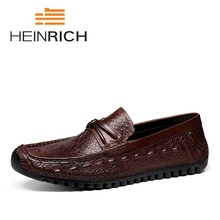 HEINRICH 2018 Spring Summer Casual Shoes Men Breathable Male Slip On Footwear Loafers Designer Sapatos Homens