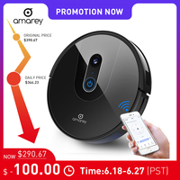 Amarey A900 Robot Vacuum Cleaner Sweep Navigation Planned Cleaning 0.5l Dustbin Tank Adjustable Household Automatically Charge