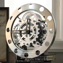 Современная мода часы личности и digita настенные часы вырез передач часы цифровой
